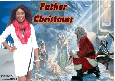 Father Christmas  (Official Visual Lyrics Video)..Starring ClaudyGOD , Jeff Nelson